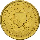 Netherlands, 50 Euro Cent, 1999, MS(65-70), Brass, KM:239