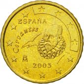 Spain, 10 Euro Cent, 2003, MS(63), Brass, KM:1043