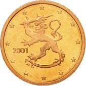 Finlande, 2 Euro Cent, 2001, FDC, Copper Plated Steel, KM:99