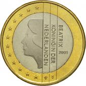 Netherlands, Euro, 2001, MS(63), Bi-Metallic, KM:240