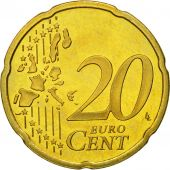 Netherlands, 20 Euro Cent, 2001, MS(63), Brass, KM:238