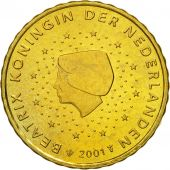 Netherlands, 10 Euro Cent, 2001, MS(63), Brass, KM:237