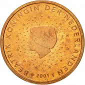 Netherlands, 2 Euro Cent, 2001, MS(63), Copper Plated Steel, KM:235