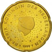 Netherlands, 20 Euro Cent, 1999, MS(63), Brass, KM:238