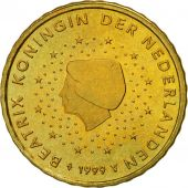 Netherlands, 10 Euro Cent, 1999, MS(63), Brass, KM:237