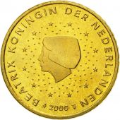 Netherlands, 50 Euro Cent, 2000, MS(65-70), Brass, KM:239