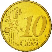 Netherlands, 10 Euro Cent, 2000, MS(65-70), Brass, KM:237
