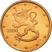 Finlande, Euro Cent, 2000, FDC, Copper Plated Steel, KM:98