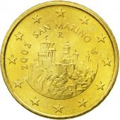 San Marino, 50 Euro Cent, 2002, MS(65-70), Brass, KM:445