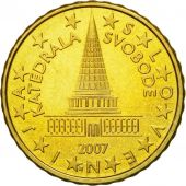 Slovenia, 10 Euro Cent, 2007, MS(60-62), Brass, KM:71
