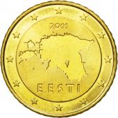 Estonia, 50 Euro Cent, 2011, MS(63), Brass, KM:66