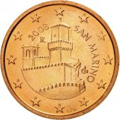 San Marino, 5 Euro Cent, 2008, SPL, Copper Plated Steel, KM:442
