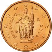 San Marino, 2 Euro Cent, 2008, SPL, Copper Plated Steel, KM:441
