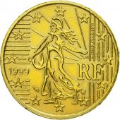 France, 50 Euro Cent, 1999, AU(55-58), Brass, KM:1287