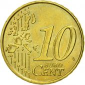 France, 10 Euro Cent, 1999, MS(60-62), Brass, KM:1285