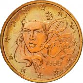 France, 2 Euro Cent, 1999, MS(60-62), Copper Plated Steel, KM:1283