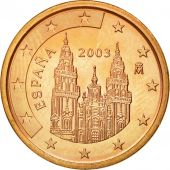 Espagne, 5 Euro Cent, 2003, SPL, Copper Plated Steel, KM:1042