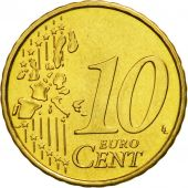 Portugal, 10 Euro Cent, 2004, MS(63), Brass, KM:743