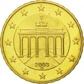 GERMANY - FEDERAL REPUBLIC, 10 Euro Cent, 2003, MS(63), Brass, KM:210