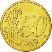 IRELAND REPUBLIC, 50 Euro Cent, 2003, MS(60-62), Brass, KM:37