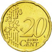 IRELAND REPUBLIC, 20 Euro Cent, 2004, MS(63), Brass, KM:36