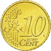 IRELAND REPUBLIC, 10 Euro Cent, 2004, MS(63), Brass, KM:35
