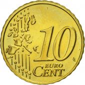 IRELAND REPUBLIC, 10 Euro Cent, 2002, MS(63), Brass, KM:35