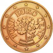 Austria, 5 Euro Cent, 2002, MS(60-62), Copper Plated Steel, KM:3084
