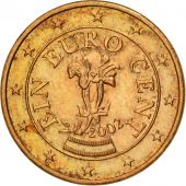 Austria, Euro Cent, 2002, MS(63), Copper Plated Steel, KM:3082