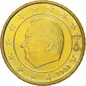 Belgium, 50 Euro Cent, 2002, MS(63), Brass, KM:229