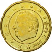 Belgium, 20 Euro Cent, 2002, MS(63), Brass, KM:228