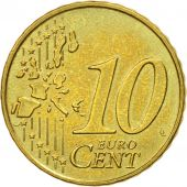 GERMANY - FEDERAL REPUBLIC, 10 Euro Cent, 2002, MS(60-62), Brass, KM:210