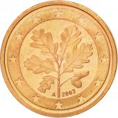 GERMANY - FEDERAL REPUBLIC, 2 Euro Cent, 2002, MS(63), Copper Plated Steel
