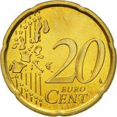 Spain, 20 Euro Cent, 2002, MS(60-62), Brass, KM:1044
