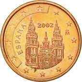 Espagne, Euro Cent, 2002, SUP+, Copper Plated Steel, KM:1040