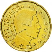 Luxembourg, 20 Euro Cent, 2002, MS(60-62), Brass, KM:79