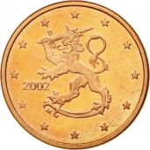 Finlande, 5 Euro Cent, 2002, SUP+, Copper Plated Steel, KM:100