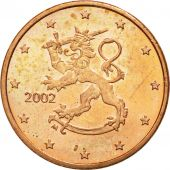 Finlande, Euro Cent, 2002, SPL, Copper Plated Steel, KM:98