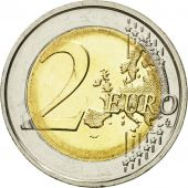 Belgium, 2 Euro, 10 th anniversary of emu, 2009, MS(60-62), Bi-Metallic, KM:282