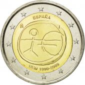 Spain, 2 Euro, european monetary union 10 th anniversary, 2009, MS(63)