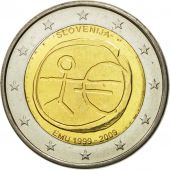 Slovenia, 2 Euro, european monetary union 10 th anniversary, 2009, MS(63)