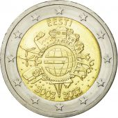Estonia, 2 Euro, 10 ans de lEuro, 2012, MS(63), Bi-Metallic, KM:70