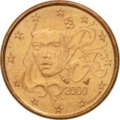 France, Euro Cent, 2000, EF(40-45), Copper Plated Steel, KM:1282