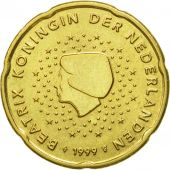 Netherlands, 20 Euro Cent, 1999, AU(50-53), Brass, KM:238