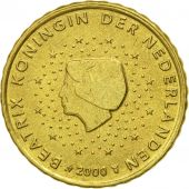 Netherlands, 10 Euro Cent, 2000, EF(40-45), Brass, KM:237