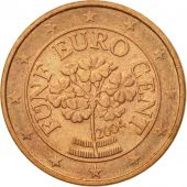 Austria, 5 Euro Cent, 2004, EF(40-45), Copper Plated Steel, KM:3084