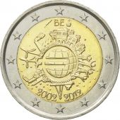 Belgium, 2 Euro, 10 years euro, 2012, MS(60-62), Bi-Metallic, KM:315
