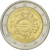 Greece, 2 Euro, european monetary union 10 th anniversary, 2012, AU(50-53)