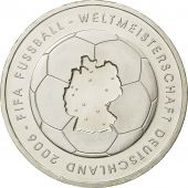 GERMANY - FEDERAL REPUBLIC, 10 Euro, fifa 2006, 2003, MS(63), Silver, KM:223
