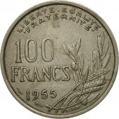 Coin, France, Cochet, 100 Francs, 1955, EF(40-45), Copper-nickel, KM:919.1